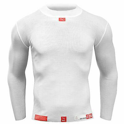 Puma Nomex Long Sleeved Top Underwear Base Layer - White XL-XXL