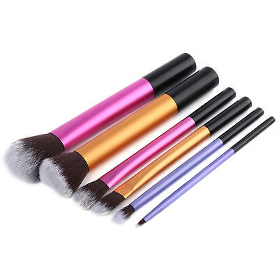 Pro Makeup Cosmetic 6pcs Eyeshadow Brushes Set Powder Foundation Lip Brush Tool