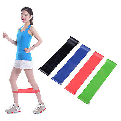 4x Fitnessband Set Trainingsband Übungsband Widerstandsband Training Band