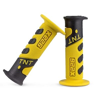 Coppia Manopole Tnt Racing Grip 922X Giallo/nero  344199E