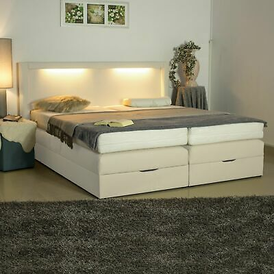 boxspringbett mit bettkasten bett polsterbett 160x200 farbwahl matratze h2 h3 h4 eur 778 00. Black Bedroom Furniture Sets. Home Design Ideas
