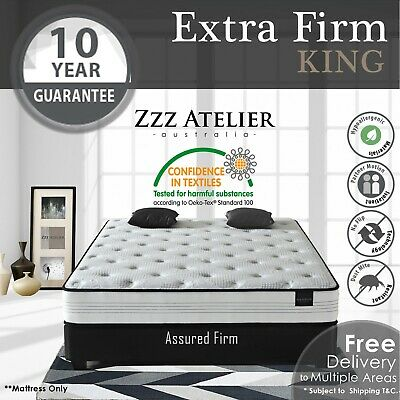 KING Mattress - Super Firm Mattress w/ Extra Firm Pocket Spring + Ultra HD Foam