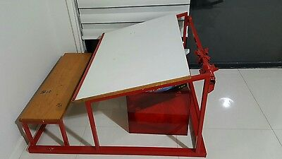 Kid's Drawing Table, Metal, Red. $135.00 RARE