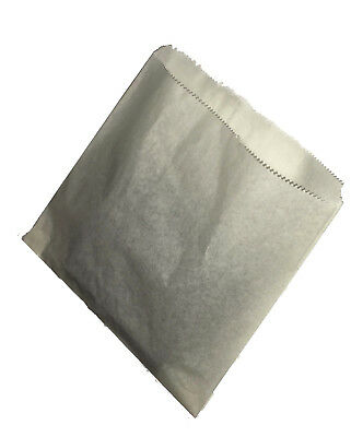 """Kraft / White Sulphite Strung Paper Food Bags for Sandwiches Groceries 6"""" x 6"""""""
