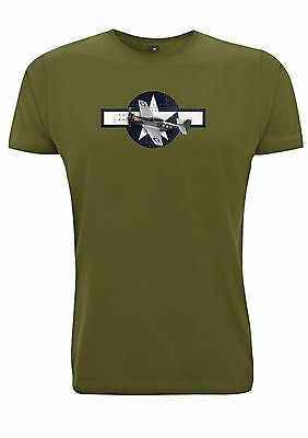 P51 Mustang American t shirt WW2 Fighter Plane tshirt Airforce army P-51 usa