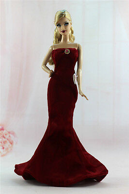 Gorgeous Princess Party Dress/Clothes Gown+bag For Barbie Doll N06