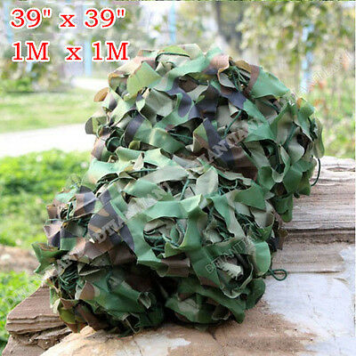 "39*39""  Woodland Camouflage Camo Net For Camping Military Hunting O6"