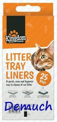 New 25 Pack Cat Litter Tray Bags Liners Easy Pet Waste Disposal Bags UK SELLER ✔