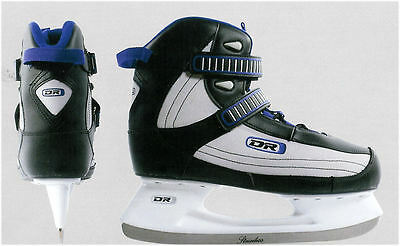 New DR recreational rec men's soft boot ice hockey skates size sz 9 senior sr