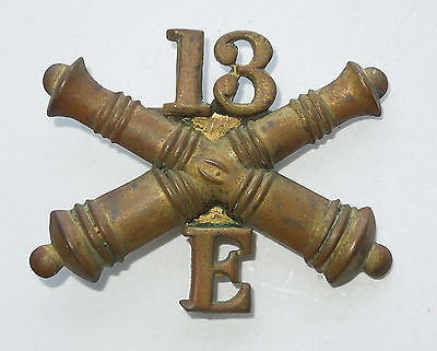 ORIGINAL US Civil or Indian WAR Enlisted Artillery Hat Insignia CROSSED Cannons
