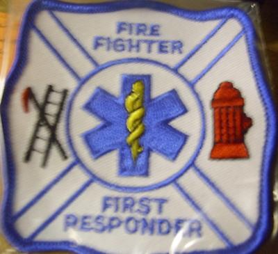 "Fire Fighter First Responser Square 3""  Patch"