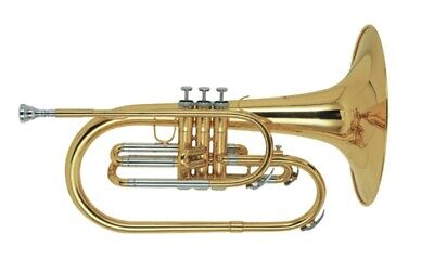 STAGG F BRASS MARCHING MELLOPHONE w/ CASE - TRUMPET HORN - WS-MB225
