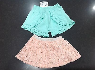 baby girl pink skirt and shorts size 000 aqua shorts BNWT 3 months