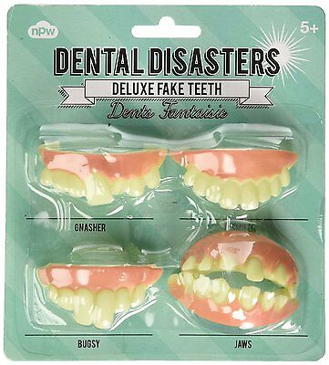 NPW Dental Disasters Deluxe Fake Teeth (Pack of 4) Classic 1