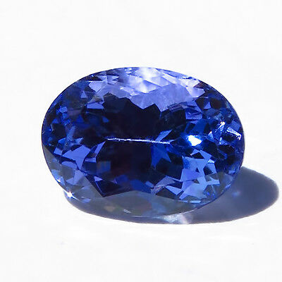 Excellent Cut! 100% Natural D-block Tanzanite, 1.64 ct -- USA Seller and Stock