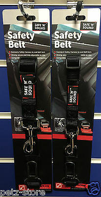 Safe n sound pet dog puppy seat belt attachment to harness adjustable car travel