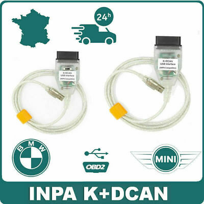 Interface Valise diagnostic for BMW INPA/Ediabas K+DCAN USB reprogrammation + CD
