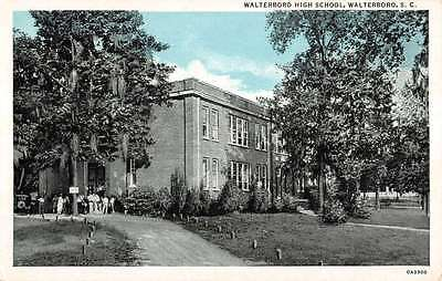 Walterboro South Carolina High School Historic Building Antique Postcard K12378
