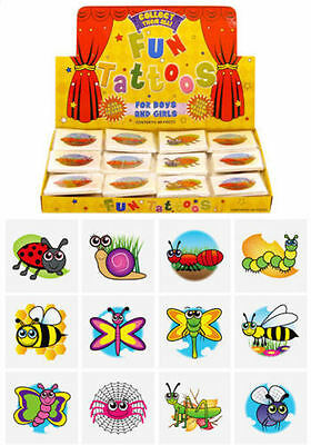 72 Insect Temporary Tattoos (6 Bags Of 12) - Pinata Loot/Party Bag Fillers Kids