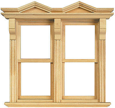 1:12 Scale Double Opening Sash Window Frame Dolls House Miniature Accessory 183