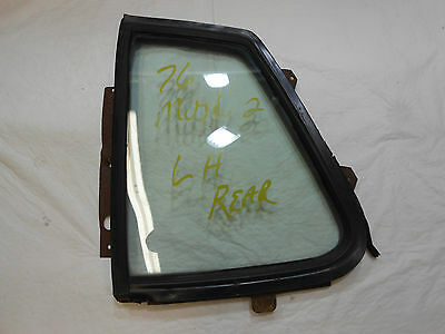 1974-1978 Mustang Coupe Quarter Window Glass - Tinted - Driver