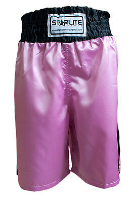 Starlite Pink-Black Boxing Shorts Sizes Small - Xl