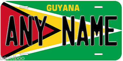 Guyana Flag Novelty Car License Plate