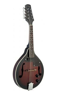 STAGG ACOUSTIC ELECTRIC A-STYLE BLUEGRASS MANDOLIN w/ RED BURST FINISH - M50 E