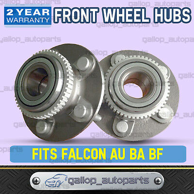 Front Wheel Bearing Hubs Ford Falcon Fairlane AU BA BF Territory 2wd 99-2010 ABS