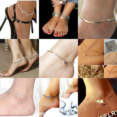Sexy Heart Anklet Ankle Bracelet Foot Chain Barefoot Sandal Beach Jewelry Charm