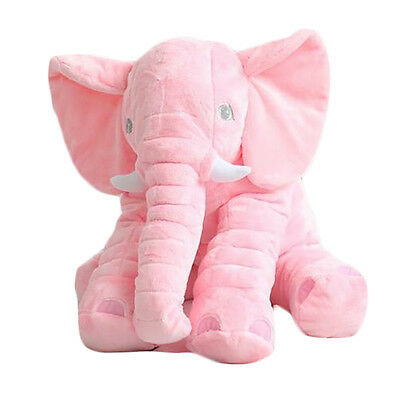 Pink Large Elephant Pillows Cushion Baby Plush Toy Stuffed Animal Kids Gift NEW