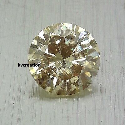 Huge Genuine 8.05 Ct 13.80 Mm Canadian Yellow Round Cut Loose Real Moissanite Nr