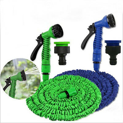 Quality 200/150/100FT Expanding Flexible Garden Water Hose with Spray Nozzle