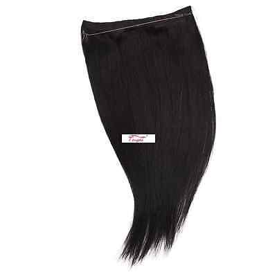 Tengda Hidden Halo Remy Wire in Invisible Wire 100% Human Hair Extensions THIN