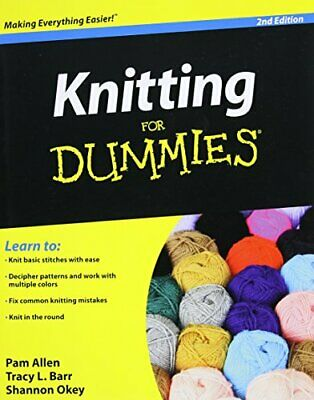 Knitting For Dummies by Okey, Shannon Paperback Book The Cheap Fast Free Post