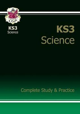 KS3 Science: Complete Study & Practice by CGP Books Paperback Book The Cheap