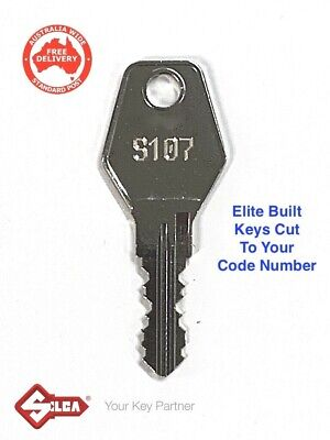 ELITE BUILT Filing Cabinet Keys. Replacement Key Cut To Code Number-FREE POST!