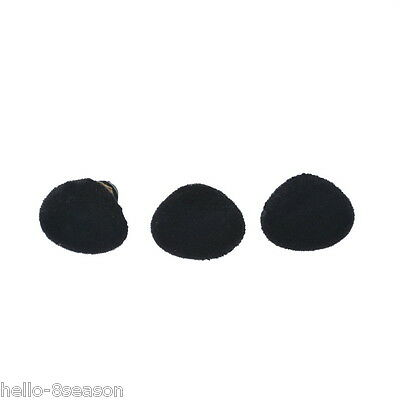 50PCs Black Plush Toy Doll Fuzzy FLOCK Triangle Safety Noses Button Craft NEW