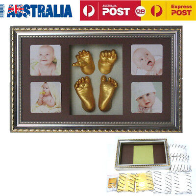 Handprint & Footprint 3D Casting Kit Gifts With Photo Frame Newborn Baby Kids