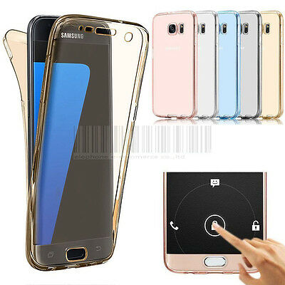 360° Shockproof Clear Rubber TPU Gel Case Cover For Samsung Galaxy J7 J700 2015