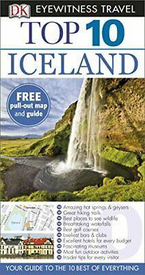 DK Eyewitness Top 10 Travel Guide: Iceland by DK Book The Cheap Fast Free Post