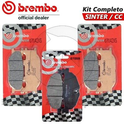 07042+07059 Pasticche BREMBO CC Per YAMAHA YP MAJESTY ABS 400 2007 07 2008 08
