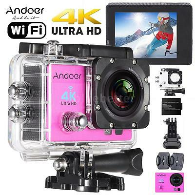 WiFi 4K ULTRA-HD 1080P@60fps Waterproof Sports DV Action Camera Video Camcorder
