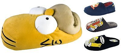 Mens Simpsons Slippers Novelty Plush Duff Homer Mules Xmas Gift Boys Shoes Size