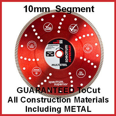 Spectrum Diamond Cutting Blade - TX10R Superior Multi-Steel
