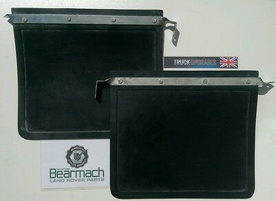 Land Rover Series 2, 2a, 3, Front Mudflap SET thick Heavy Rubber Bearmach 320601