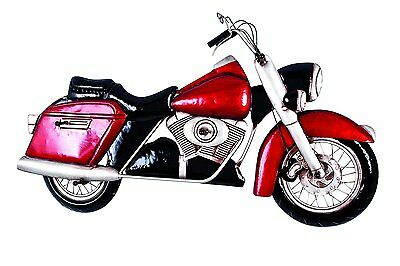Perchero Pared Moto Vintage Retro Metal 3D Rojo 5 Ganchos 8 x 99 x 52 cm