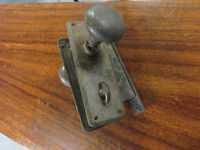 Antique  Sargent Metal Door Knobs Double Locks Back Plates And Lock