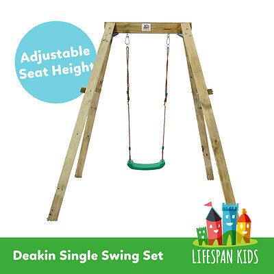 Lifespan Kids Deakin Wooden Single Swing Set Playgrounds New Zealand Pine