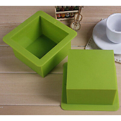 Flexible Silicone Cuboid Bar Soap Molds Cake Candle Molds - Square Cube 500ml
